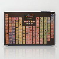periodic table iPad Cases featuring Periodic Table of Phobias by Darkest Devotion