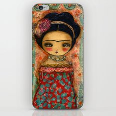 Frida In A Red And Teal Dress iPhone & iPod Skin