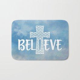 Believe Bible Quote Bath Mat