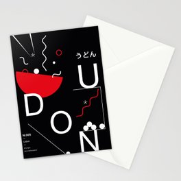 Udon type poster Stationery Cards