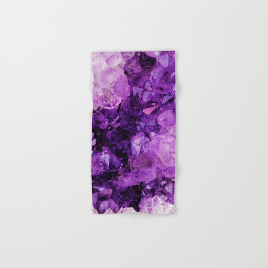 Purple Amethyst Crystals Hand & Bath Towel
