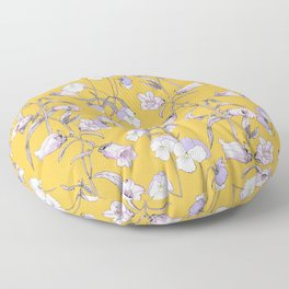 Floral  pattern with wildflowers Floor Pillow