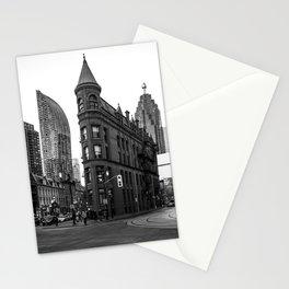 Gooderham building Toronto city Black and white Stationery Cards