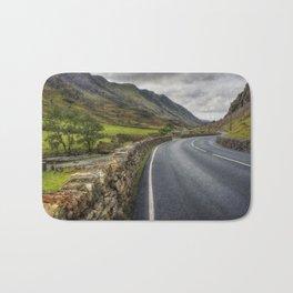Llanberis Pass Winding Road Bath Mat