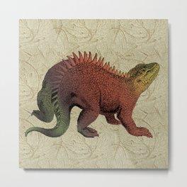 Rust & Khaki Hylaeosaurus Dinosaur Metal Print