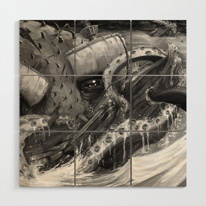 Kraken Open a Fresh One Wood Wall Art