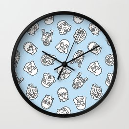 Star Icons Wall Clock