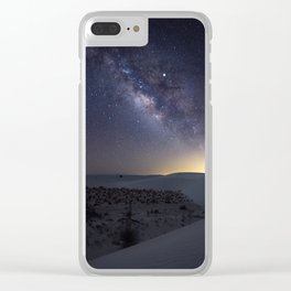 The Milky Way Over White Sands National Monument Clear iPhone Case