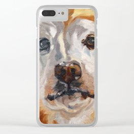 Gemma the Golden Retriever Clear iPhone Case