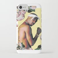 tupac iPhone & iPod Cases featuring Tupac Floral by POSH OUTSIDERS