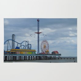 Pleasure Pier - Galveston Texas Rug