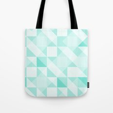 All Turquoise Triangle Pattern Tote Bag