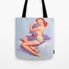 Pin Up Girl Roxanne by Gil Elvgren Tote Bag