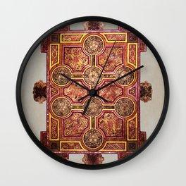 Book of Kells Carpet Page Wall Clock