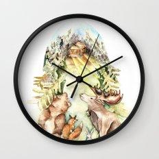 Woodland Creatures Wall Clock