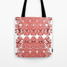 Red Lace Royshay  Tote Bag