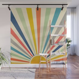 Sun Retro Art III Wall Mural