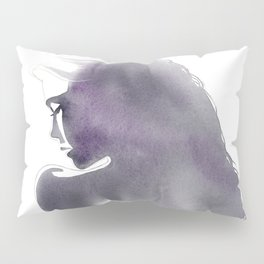Dusk, Fashion Illustration in Watercolor Pillow Sham