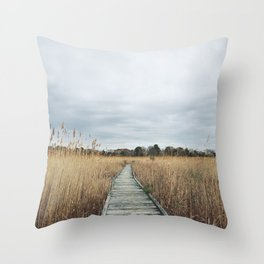 Nature walk in Cape May Throw Pillow