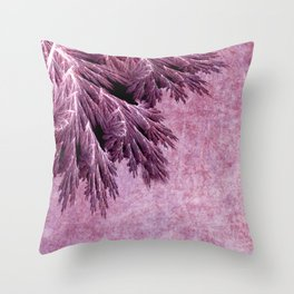 Frost in pink Throw Pillow