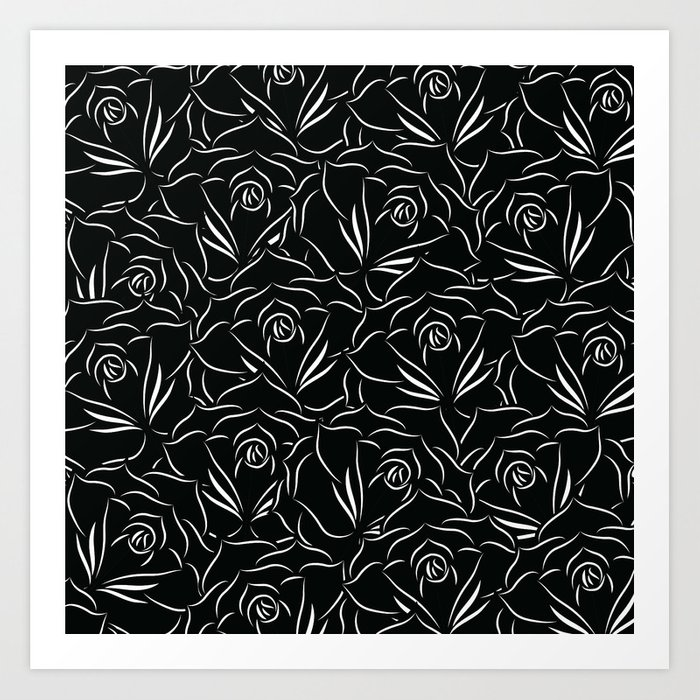 Black Rose Art Print
