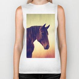 Western horse in porträit Biker Tank