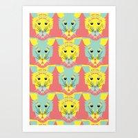Litter of Kittens Art Print