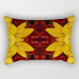 """A Gathering of Lilies"" Remix - 2 (1-1) [D4466~24] Rectangular Pillow"