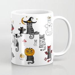 Halloween Cats In Terrible Imagery Coffee Mug