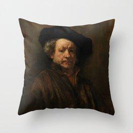 Rembrandt van Rijn - Self-portrait Throw Pillow
