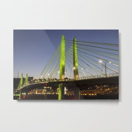 Tilikum Crossing Bridge 2 Metal Print