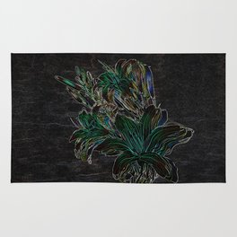 Variation of flowers - Night Rug