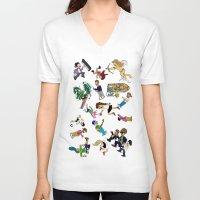 cartoons V-neck T-shirts featuring 2014 Cartoons 1 by Reid