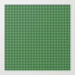 Green Triangulate Canvas Print