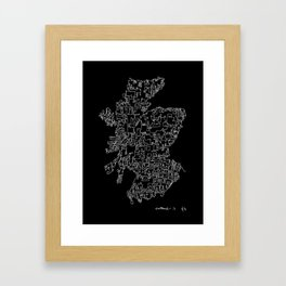 Scotland in one continuous line Framed Art Print