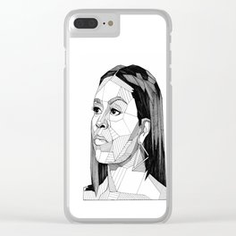 Michelle Obama Clear iPhone Case