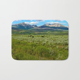 Colorado cattle ranch Bath Mat