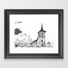 The church of sorrow: L'Isle Framed Art Print