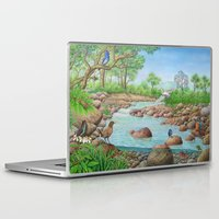 river Laptop & iPad Skins featuring  river  by Amy Fan