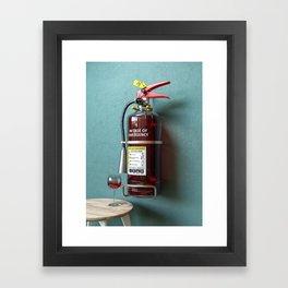 In Case Of Emergency - Wine Extinguisher Framed Art Print