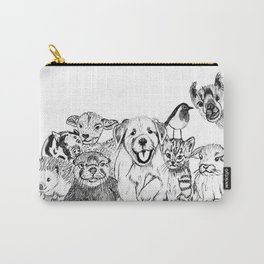 Happiness is animals Carry-All Pouch