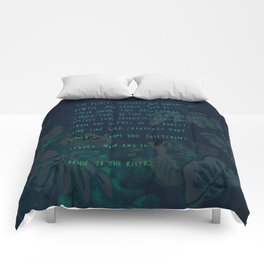 """""""Conquest of the Useless"""" by Werner Herzog Print (v. 4) Comforters"""