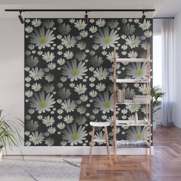 Daisies pattern as 3D texture Wall Mural