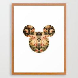 Mickey Hipster floral  Framed Art Print