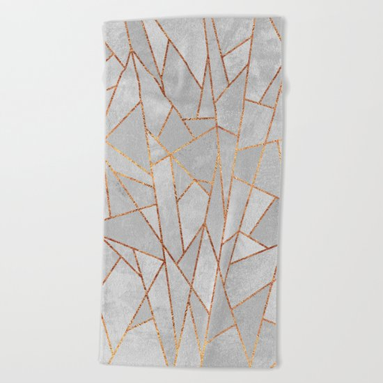 Shattered Concrete Beach Towel