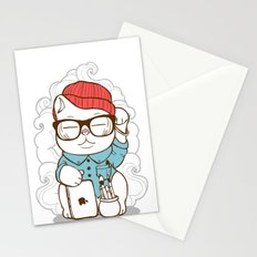 Hipster Kitty Stationery Cards