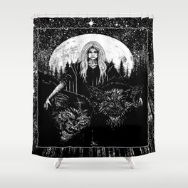 Queen of the Hellhounds Shower Curtain
