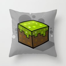 Grass Block Throw Pillow