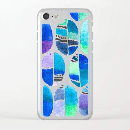 Oceanic Coffee Beans Pattern Clear iPhone Case
