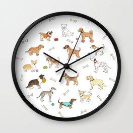 Breeds of Dog Wall Clock